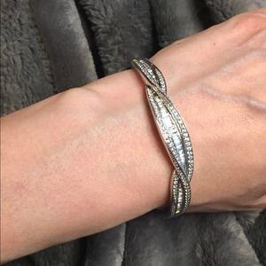Victoria Wieck Sterling Silver Baguette Bracelet